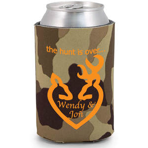 Personalized koozies low minimums can coolers wedding favors