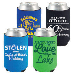 Premium Neoprene Can Cooler - Zig Zag Stitch