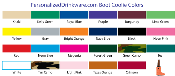 Boot Coolie Colors