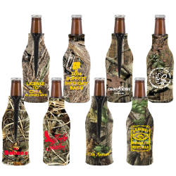 Zippered Camo Bottle Coolie