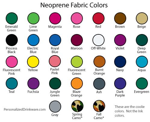 Koozies colors - neoprene