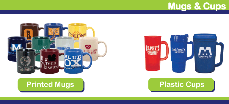 Personalized Mugs, Cups Imprinted