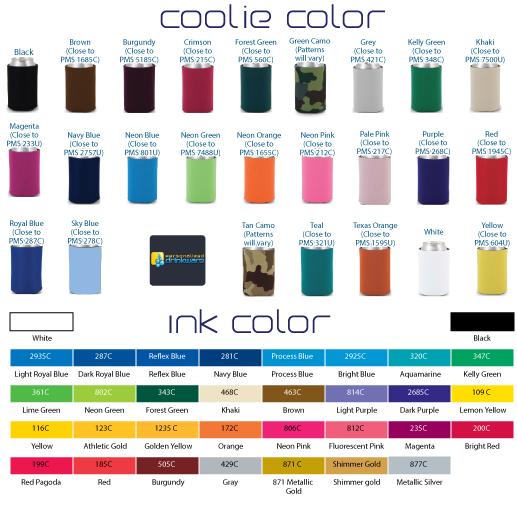 Premium Ink  & Coolie Colors