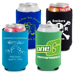 10oz Premium Neoprene Can Cooler - Zig Zag Stitch