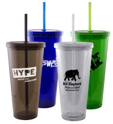 24oz Acrylic Double Wall Insulated Tumbler