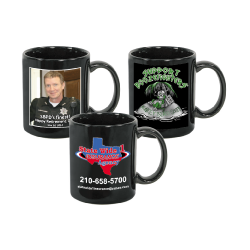Full Color Mugs - Black - 11 oz.