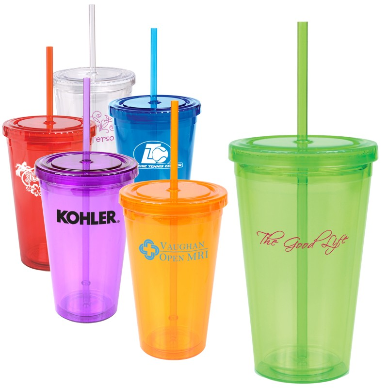 16oz Acrylic Double Wall Insulated Tumbler