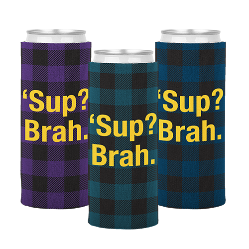 Neoprene Slim Can Cooler with Bottom in Full Color