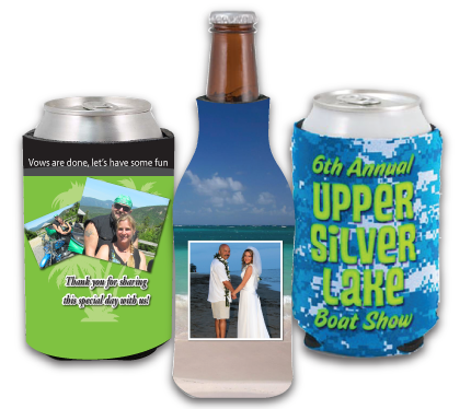 Home personalized koozies koozie bottle top can cooler