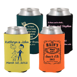 our most popular wedding koozies