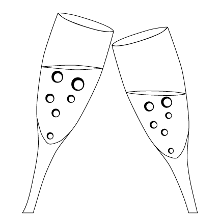 Custom Clipart: Toasting Glasses | Personalized Drinkware ...